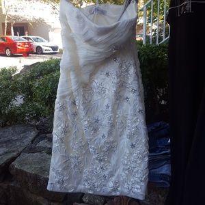 Sue Wong strapless, Ivory, Size 2 dress